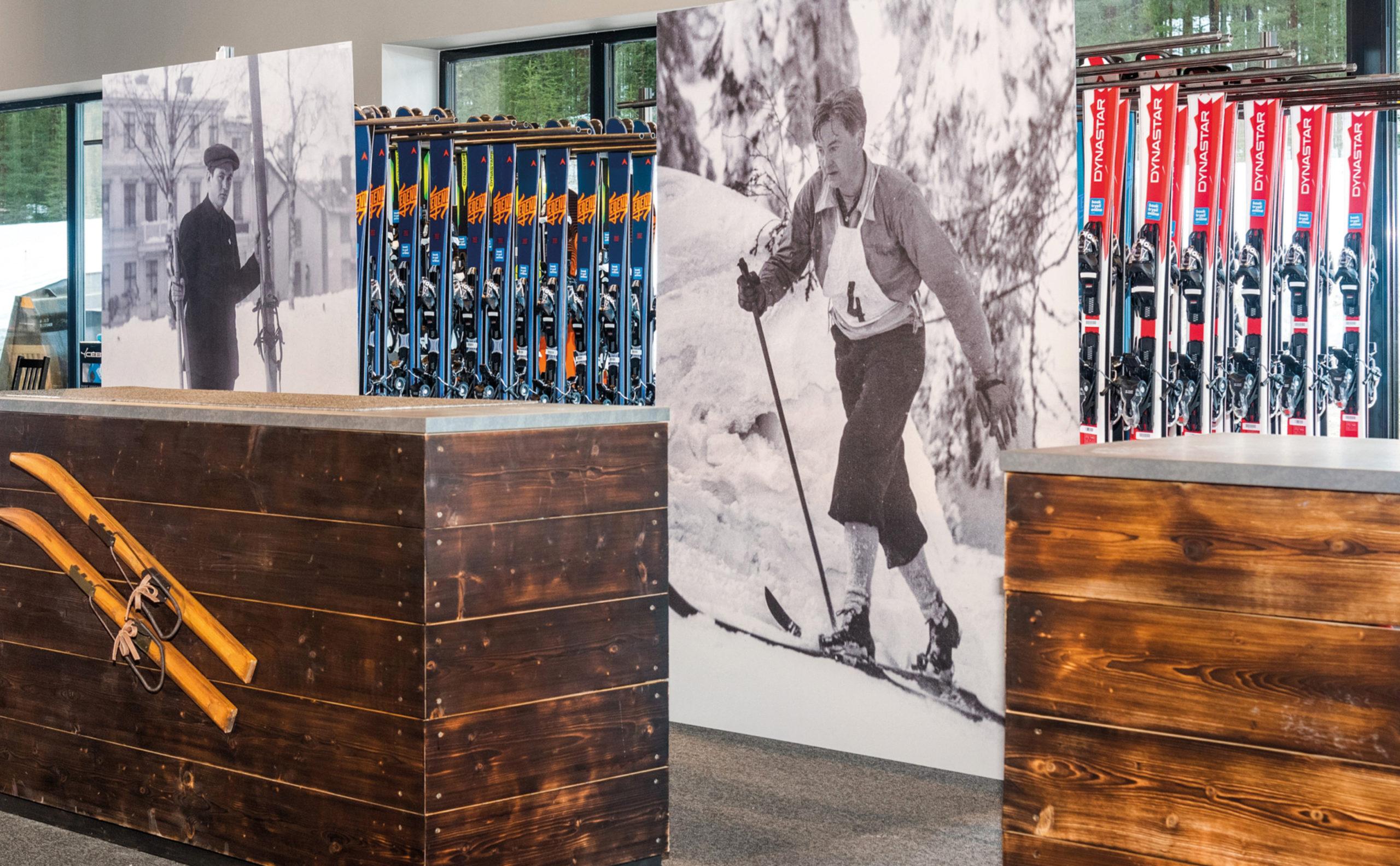 Lei ski, skistøvler, snowboard, og annet utstyr igjennom bookTrysilonline