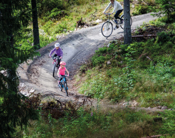 Magic Moose bicycle park in Trysil, bookTrysilonline