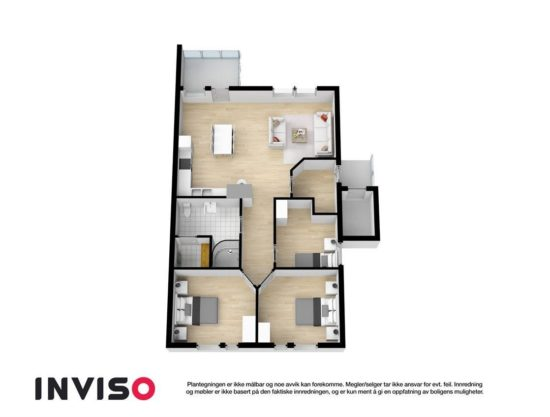 floor plan, apartment to rent in Trysil, Panorama 755A