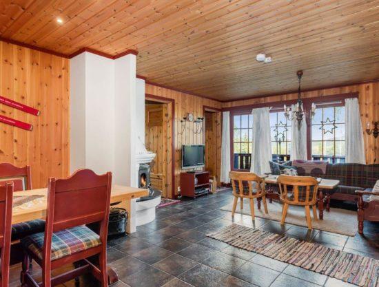 stue og kjøkken, stor plass, leilighet i Trysil til leie, Litunet 721F