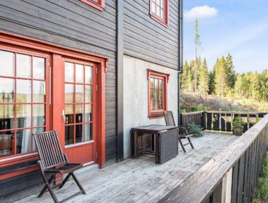 terrasse, leilighet i Trysil til leie, Litunet 721F