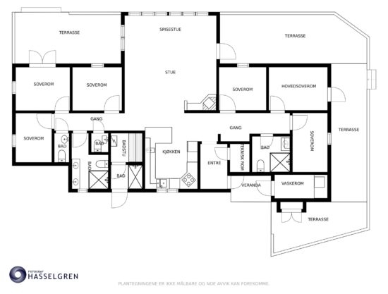floor plan, cabin to rent in Trysil, Hytte 589