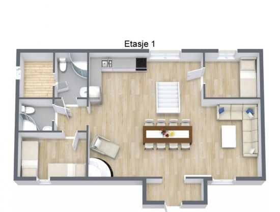 floor plan, cabin to rent in Trysil, Fageråsen 366C