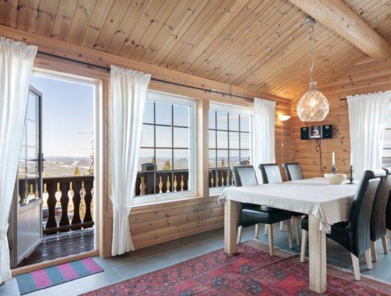 kjøkken og herlig utsikt, leilighet i Trysil til leie, Ugla 951