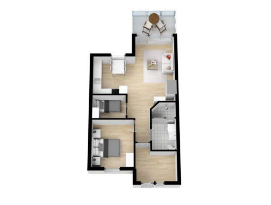 planløsning, leilighet i Trysil til leie, Trysil Høyfjellsgrend 50