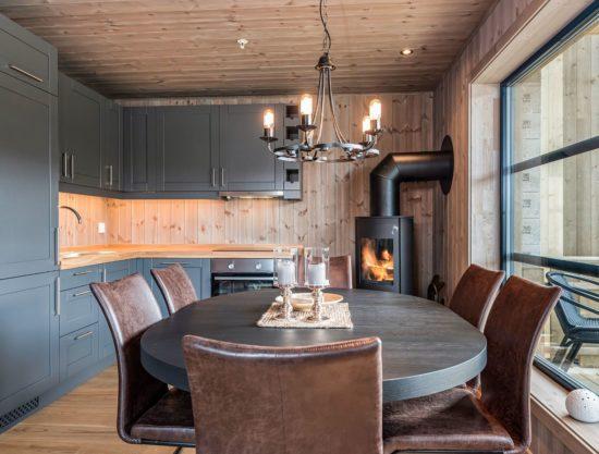kjøkken og spisebord, leilighet til leie i Trysil, Trysiltunet 14A