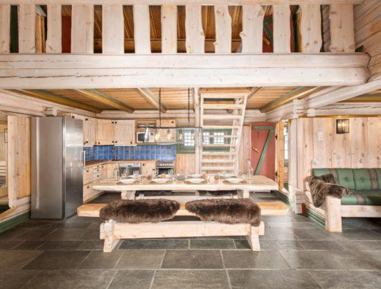 Bilde av kjøkken og stue - Fageråsen 366C - Lei hytte i Trysil