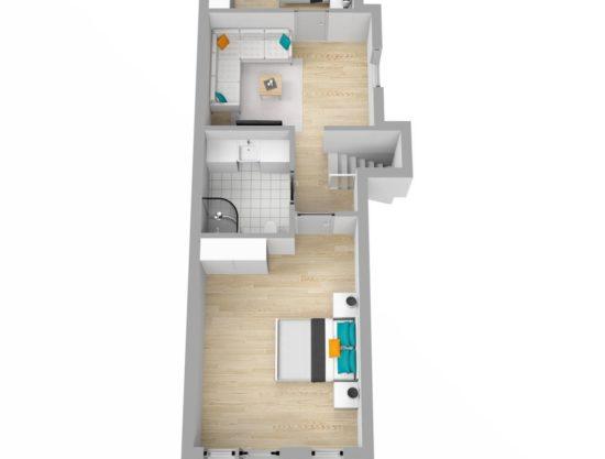 Bilde av planløsning- Lei leilighet i Trysil - Bakkebygrenda 17A
