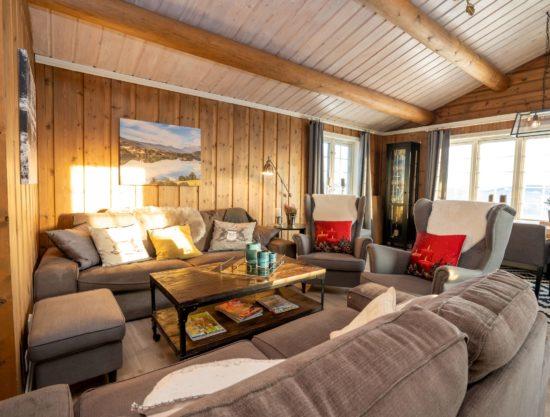 stor stue - Hytte 616- Lei hytte i Trysil