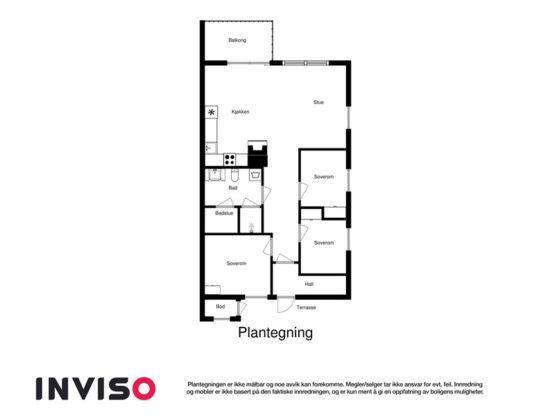 plantegning, leilighet i Trysil til leie, Utsikten 771C