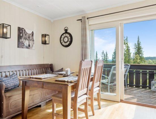 spiseplass og veranda, leilighet i Trysil til leie, Utsikten 771C