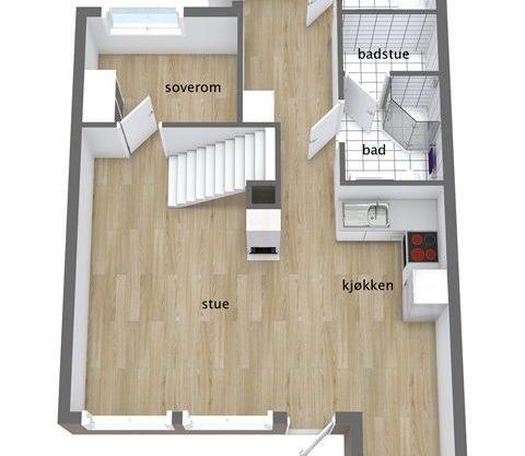 planløsning, leilighet i Trysil til leie, Trysil Alpin 42A