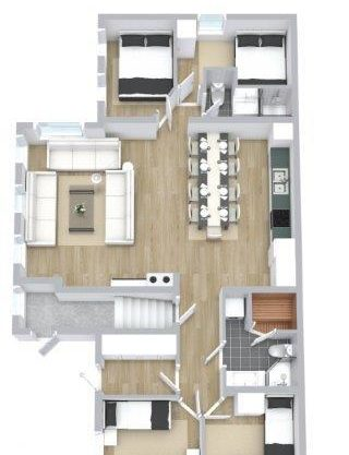 floor plan, apartment to rent in Trysil, Ugla 917