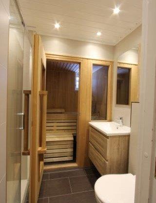 bad med badstue, leilighet i Trysil til leie, Trysil Alpin 45