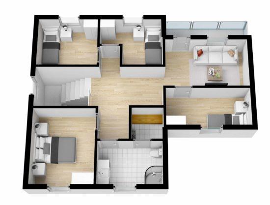 plantegning, leilighet til leie i Trysil, Lisetra 716B