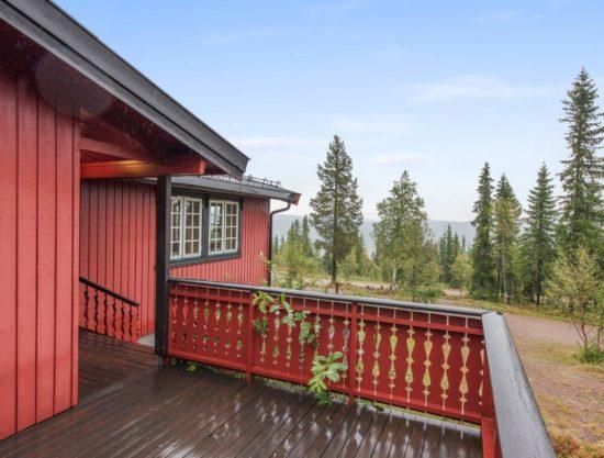 terrasse, hytte i Trysil til leie, Rådyrstien 13