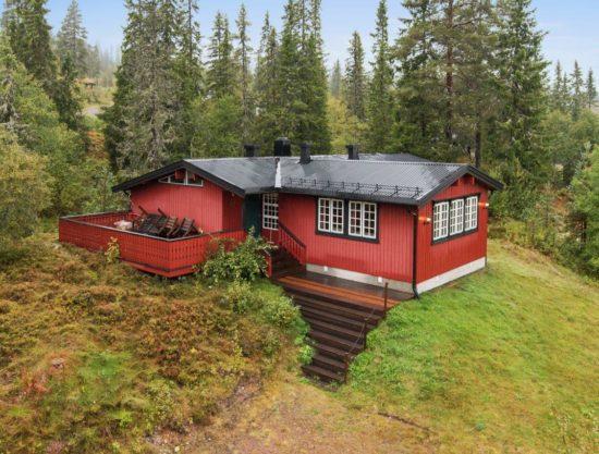 fasade, hytte i Trysil til leie, Rådyrstien 13