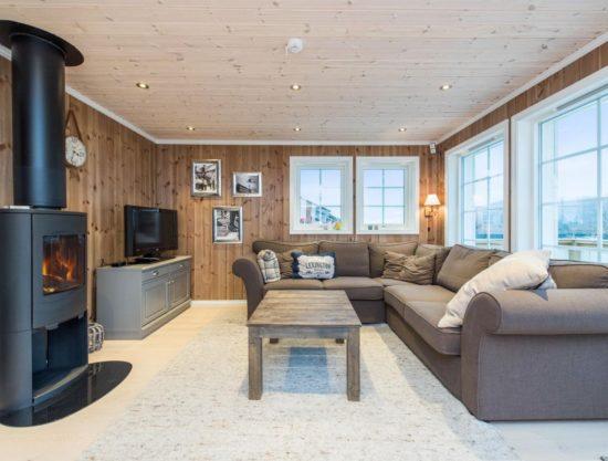 stue med peis, hytte i Trysil til leie, Skurufjellet 1141