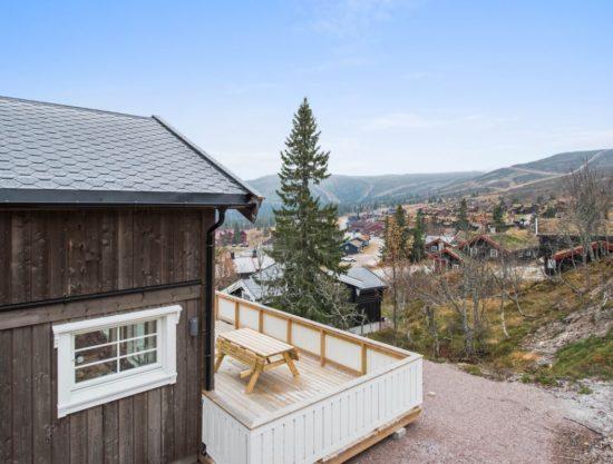 fasade og utsikt, hytte i Trysil til leie, Skurufjellet 1141