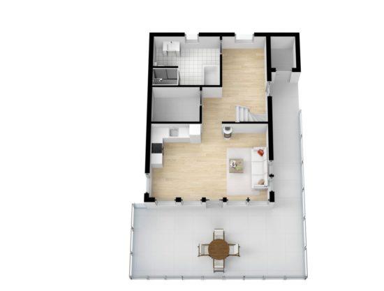 planløsning, hytte i Trysil til leie, Skurufjellet 1141