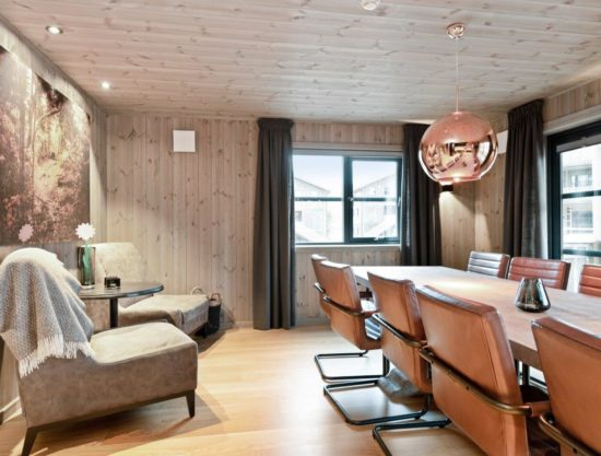 eating area and livingroom, apartment to rent in Trysil, Trysiltunet 28D