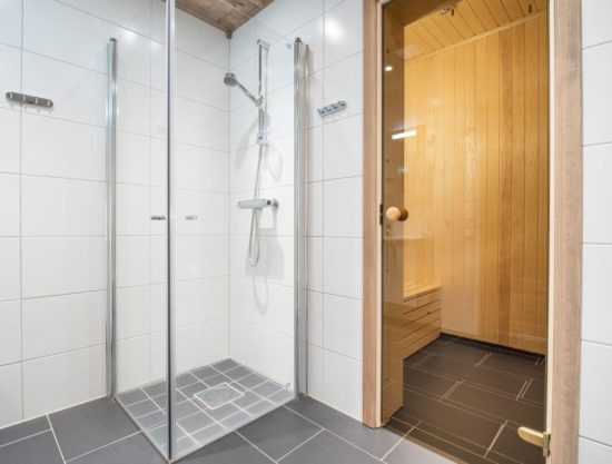 bathroom with sauna, apartment to rent in Trysil, Trysiltunet 20D