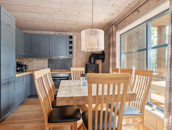 kjøkken og spisebord, leilighet til leie i Trysil, Trysiltunet 22A
