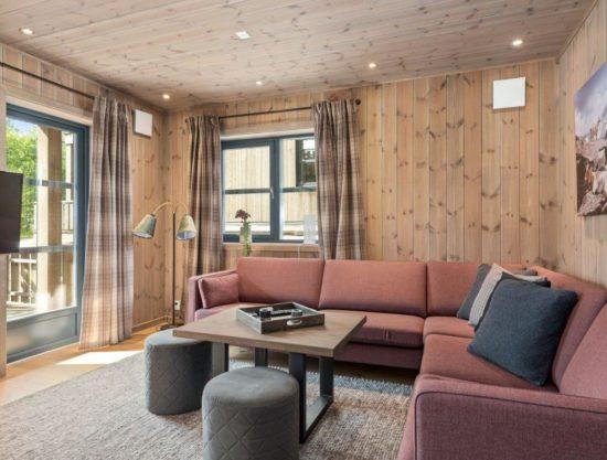 stor stue og sofa, leilighet til leie i Trysil, Trysiltunet 22A