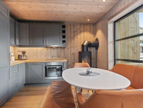 kjøkken og spisebord, leilighet til leie i Trysil, Trysiltunet 26A