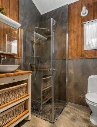 bathroom with sauna, cabin to rent in Trysil, Hytte 589
