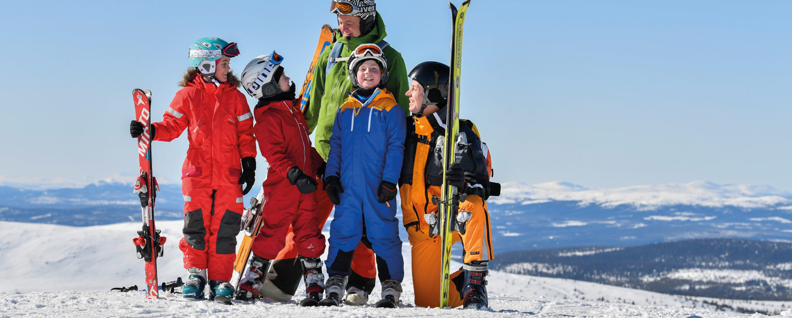 happy family in the slopes, Trysil