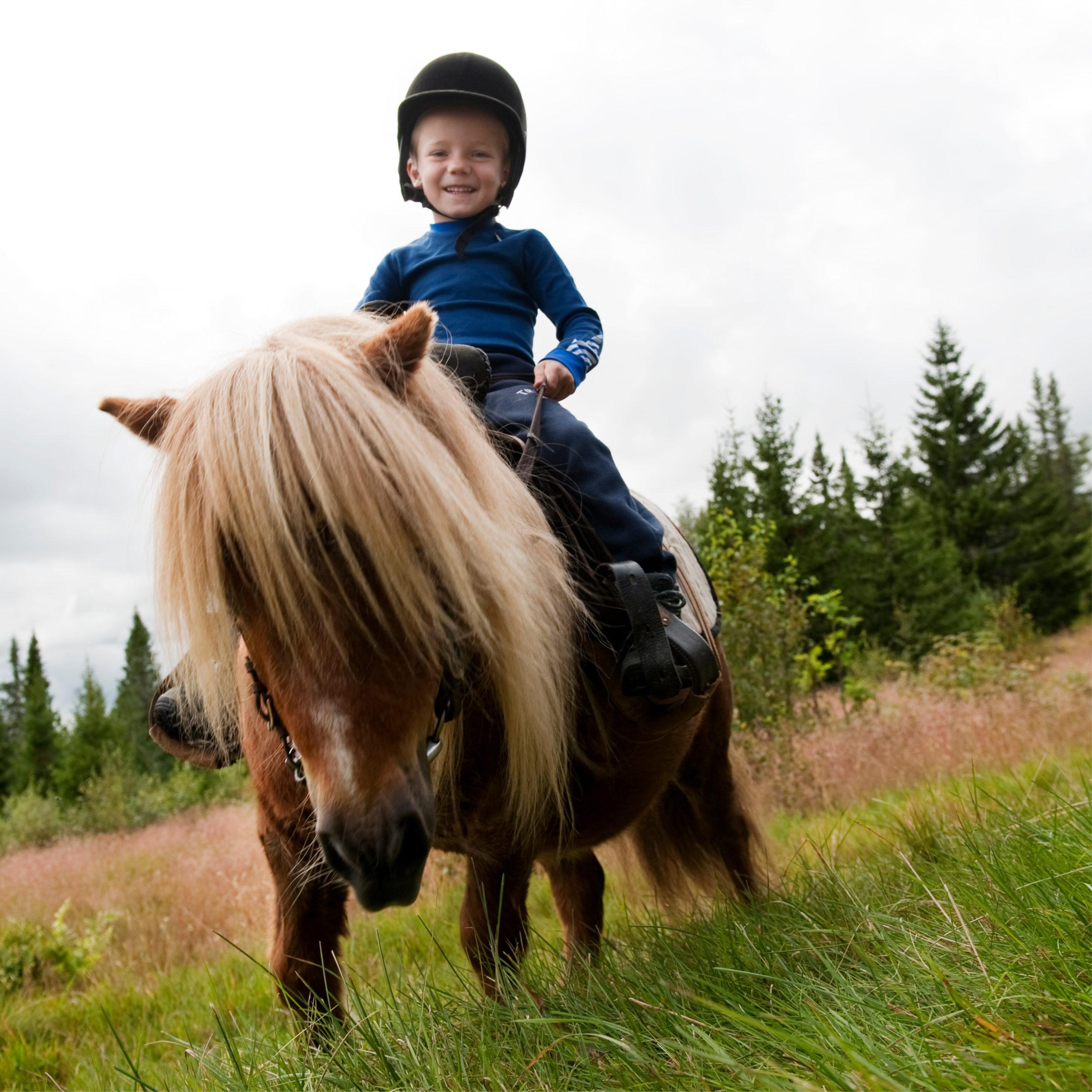 gutt på hesteryggen, ridetur i Trysil