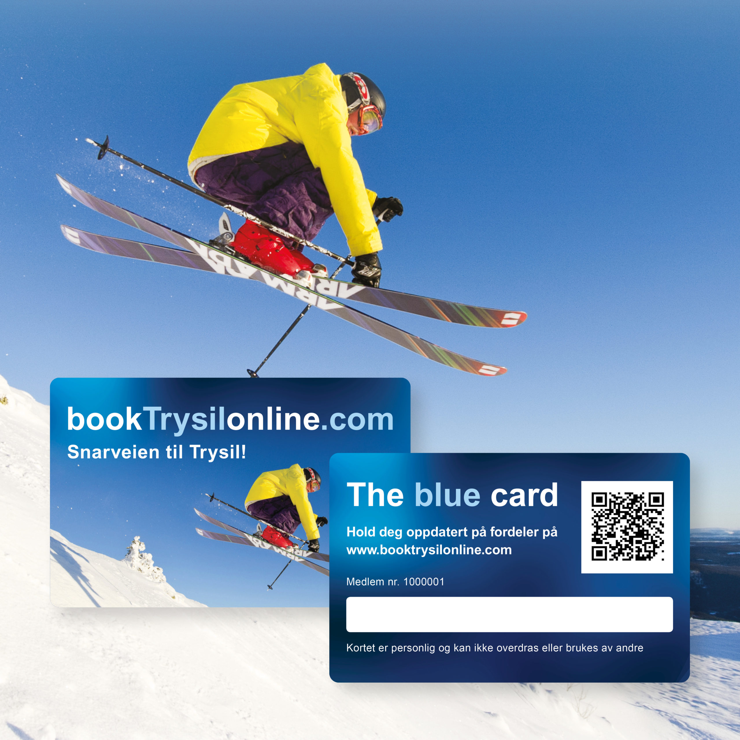 Bilde av fordelskortet The Blue Card, bookTrysilonline