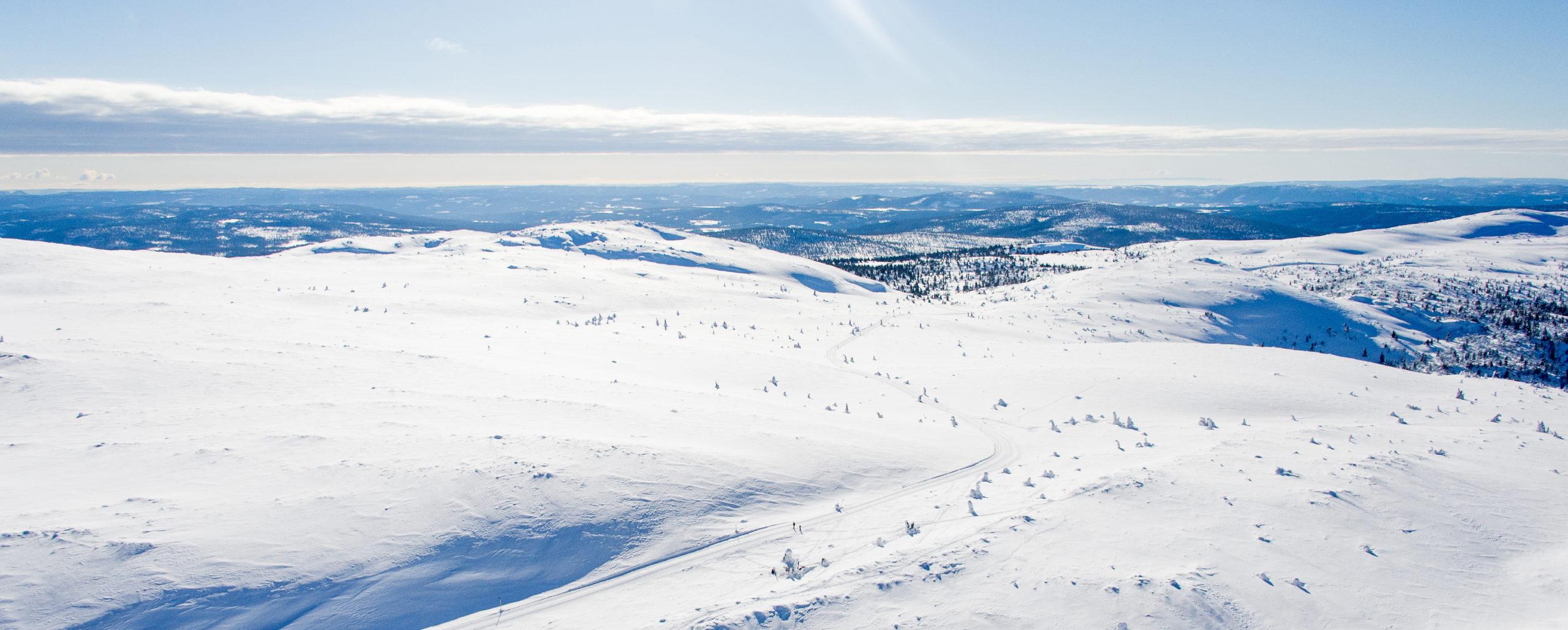 Bilde av alpinbakkene i Trysil