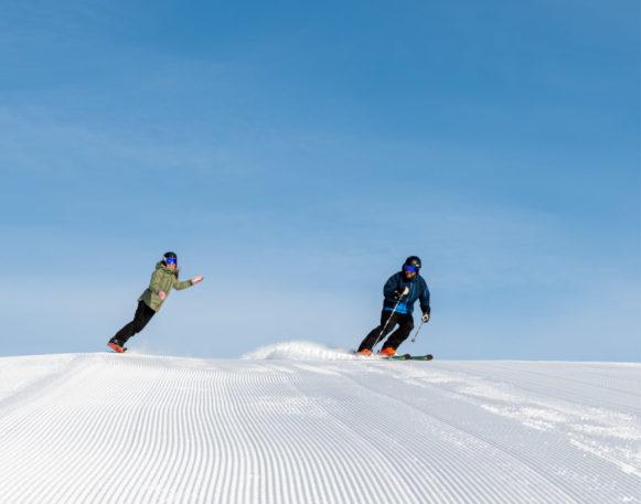 Alpint og snowboard i Trysll i februar